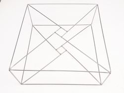 T2XXL Rahmen geliefert lose 60x60x11cm Edelstahl