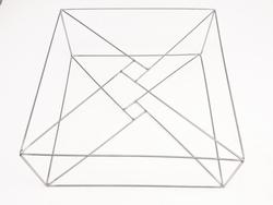 T2 S Rahmen geliefert lose 35x35x11cm Edelstahl
