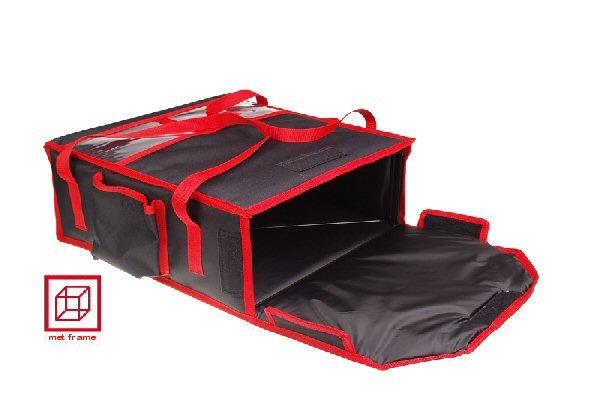 Tasche für 2 Pizzaschachteln, Innenmaße 40 x 40 x 11 cm