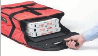 Liefern Sie sehr heiße Pizzen ohne Strom und Kabel