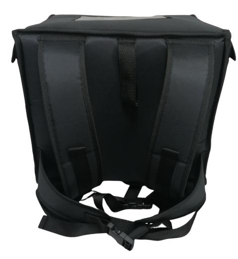Rucksack passend für 4x 35cm Pizza Nylon, komplett schwarz
