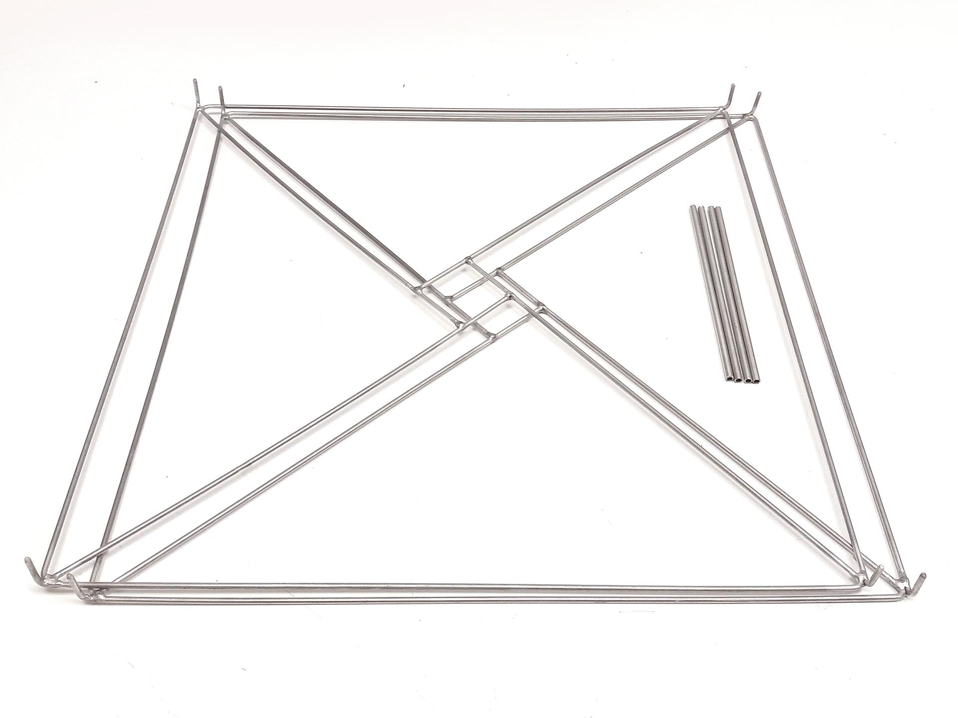 Cadre T2L livré en vrac 45x45x11cm Inox,